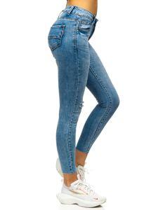 Niebieskie spodnie jeansowe damskie Skinny Denley S3336