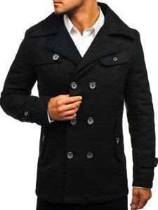 Płaszcz męski zimowy czarny Denley EX906