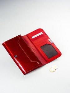 Portfel damski skórzany czerwony 1213
