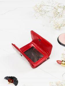 Portfel damski skórzany czerwony 2103