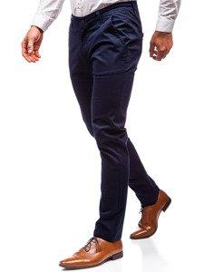 Spodnie chinosy męskie granatowe Denley 2901