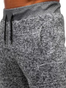 Spodnie dresowe męskie szare Denley KS1943