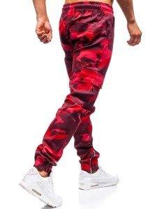 59dc807e42550b Previous. Spodnie joggery męskie moro-czerwone ...