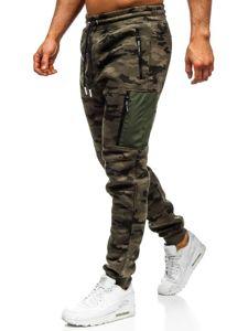 Spodnie męskie dresowe baggy moro-multikolor Denley 3769E