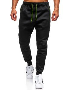 Spodnie męskie dresowe czarne Denley 1929