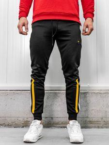 Spodnie męskie dresowe czarne Denley HL8989