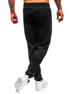 Spodnie męskie dresowe czarne Denley JX8985