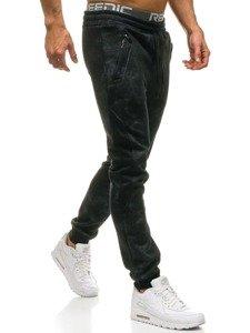 Spodnie męskie dresowe czarne Denley W1551