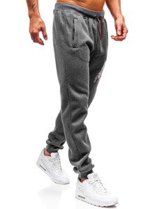 Spodnie męskie dresowe grafitowe Denley 55089