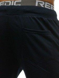Spodnie męskie dresowe granatowe Denley 3781
