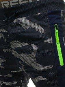 Spodnie męskie dresowe moro-granatowe Denley ML225