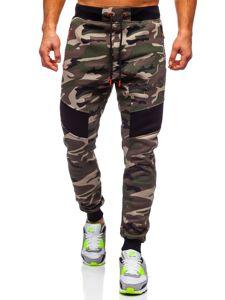 Spodnie męskie dresowe moro khaki Denley TC873