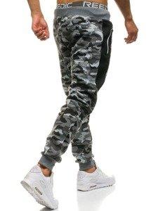 Spodnie męskie dresowe moro-szare Denley QN271