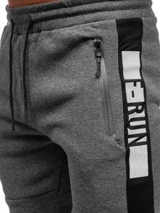 Spodnie męskie dresowe szare Denley JX8952