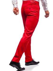 Spodnie wizytowe męskie czerwone Denley 3149