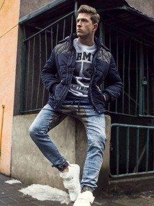 Stylizacja nr 115 - kurtka zimowa, bluza z nadrukiem, spodnie joggery, sneakersy