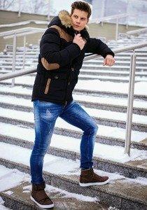 Stylizacja nr 144 - kurtka zimowa, spodnie jeansowe, buty sneakersy