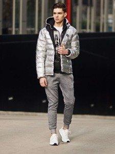 Stylizacja nr 369 - zegarek, kurtka pikowana, bluza rozpinana, T-shirt basic, spodnie joggery