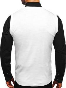 Sweter męski bez rękawów biały Denley 2500