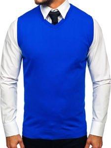 Sweter męski bez rękawów niebieski Denley 2500