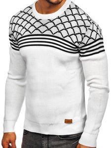 Sweter męski biały Denley 3017