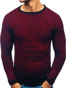 Sweter męski czarno-czerwony Denley 152