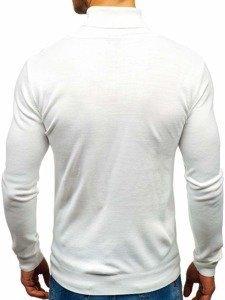 Sweter męski golf biały Denley 2400
