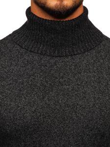 Sweter męski golf grafitowy Denley H1933