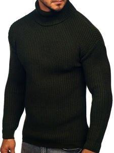 Sweter męski golf khaki Denley 4368