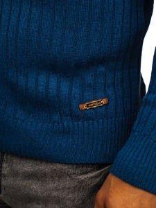 Sweter męski golf niebieski Denley 3070
