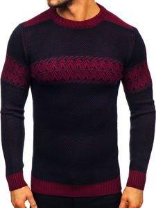 Sweter męski granatowo-bordowy Denley 1806