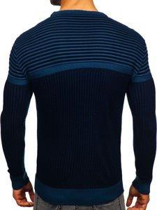 Sweter męski niebieski Denley 1013