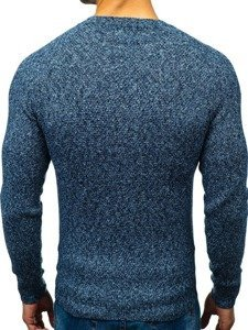 Sweter męski niebieski Denley H1810