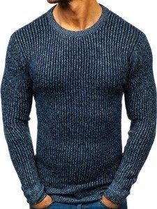 Sweter męski niebieski Denley H1818
