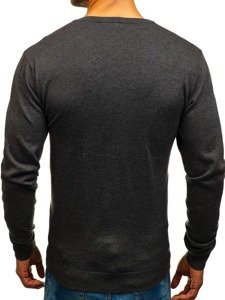 Sweter męski w serek antracytowy Denley 1820
