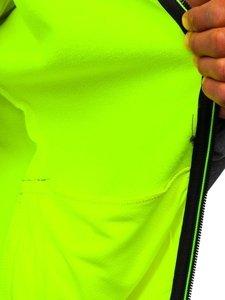 Szara kurtka męska przejściowa softshell Denley KS2193
