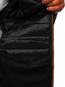 Szara przejściowa kurtka męska Denley KS2155
