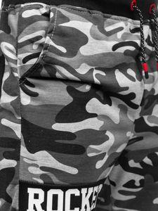 Szare dresowe krótkie spodenki męskie Denley KK300161
