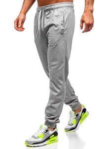 Szare dresowe spodnie męskie Denley HH02