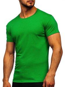 T-shirt męski bez nadruku zielony Denley 2005