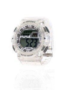 Zegarek na rękę biało-szary Denley 9003