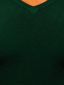 Zielony sweter męski w serek Denley YY03