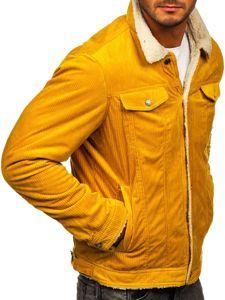 Żółta przejściowa kurtka męska Denley 1179